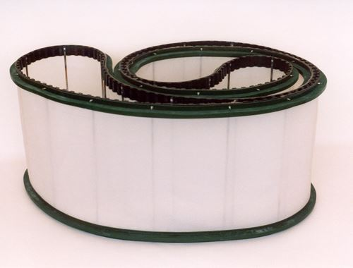 Filtration belt used in the plastic industry