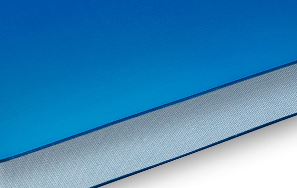PVC - Blue - 2 plies polyester