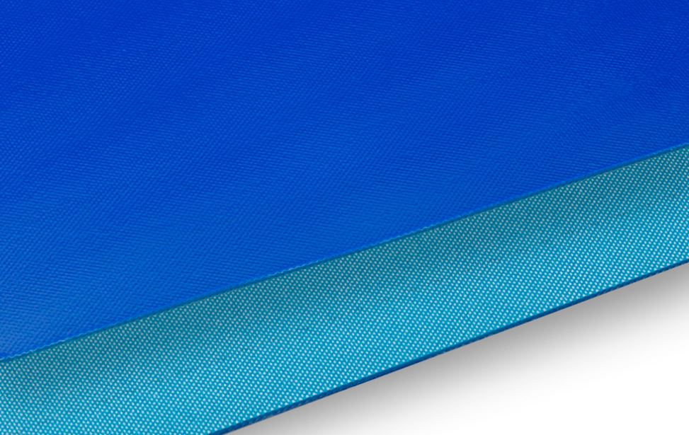 Silicone rubber - Blue - 2 plies polyester