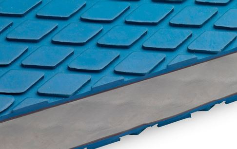 Non-slip coating mini square 8 mm blue F